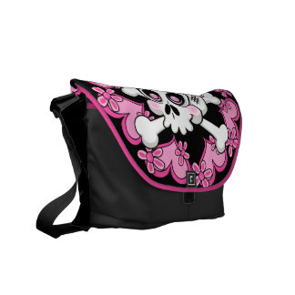 Cute Skull and Hearts Commuter Bag