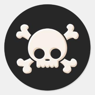 Cute Skull Classic Round Sticker