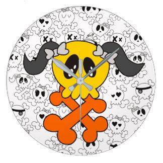 cute skull clock