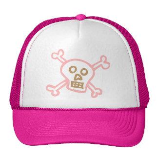 Cute Skull Crossbones Graffiti Mesh Hats