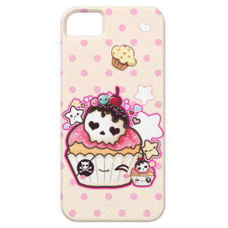 Cute skull cupcake with kawaii stars case for the iPhone 5