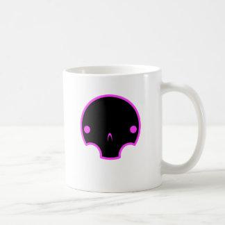 cute skull design basic white mug
