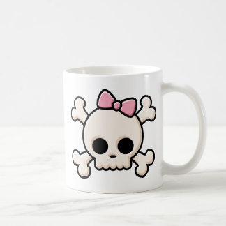 Cute Skull Girl Classic White Coffee Mug