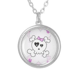 Cute Skull Girl Necklace