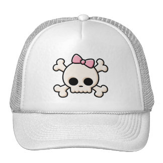 Cute Skull Girl Trucker Hat