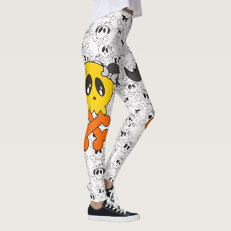 cute skull leggings