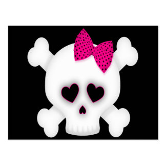 Cute Skull Post Cards