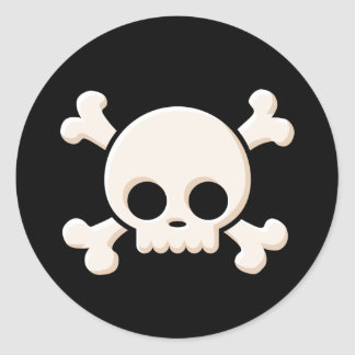 Cute Skull Round Sticker