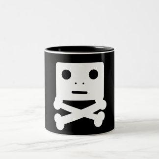 Cute Skull Two-Tone Coffee Mug