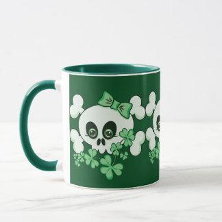 Cute Skull with Shamrocks Mug