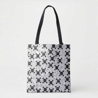 Cute Skulls And Cobwebs Tote Bag