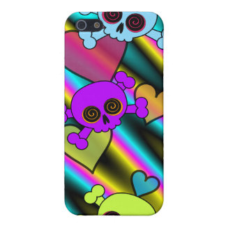 Cute Skulls and Hearts Cases For iPhone 5