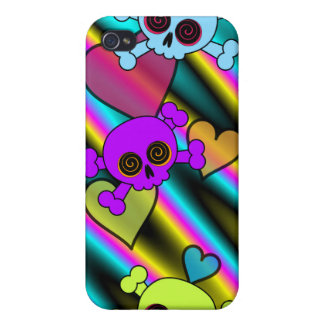 Cute Skulls and Hearts Covers For iPhone 4