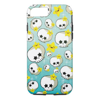 Cute Skulls And Stars Pattern iPhone 8/7 Case