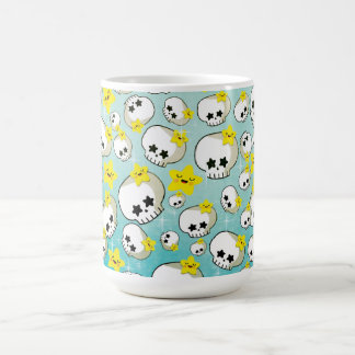 Cute Skulls And Stars Pattern Coffee Mugs