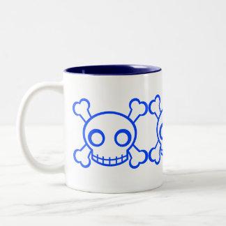 Cute Skulls Two-Tone Coffee Mug