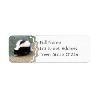 Cute Skunk  Mailing Labels