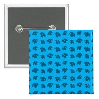Cute sky blue mushroom pattern 15 cm square badge
