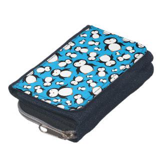 Cute sky blue penguin pattern wallets