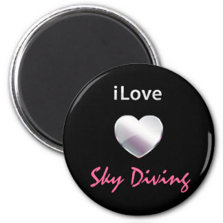 Cute Sky Diving 6 Cm Round Magnet