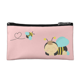 Cute Sleeping Baby Boy, Bumble Bee for Mommy Cosmetic Bag