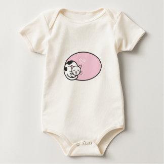 Cute Sleeping Cat Cartoon Baby T-shirt