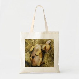 Cute Sleeping Chihuahua Tote Bag