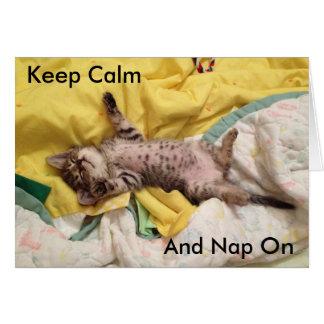 Cute Sleeping Kitten Card (Animal Rescue)