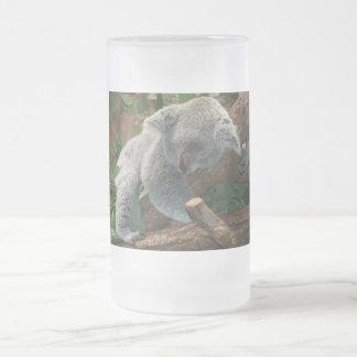 Cute Sleeping Koala Bear Frosted Glass Beer Mug