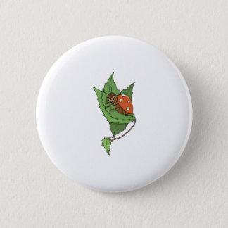 cute sleeping little ladybug 6 cm round badge