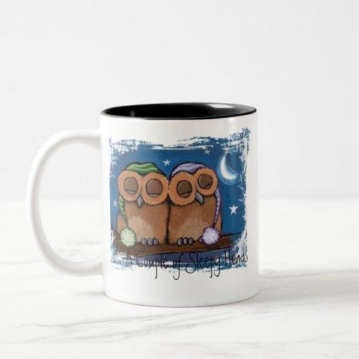 Cute Sleeping Owls Mug
