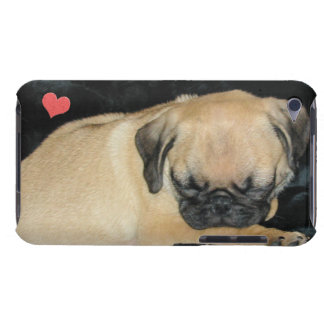 Cute Sleeping Pug Puppy Barely There iPod Case