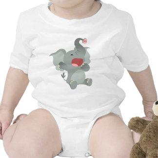 Cute Sleepy Cartoon Elephant Baby T-Shirt