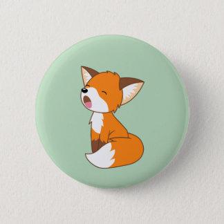 Cute Sleepy Little Fox 6 Cm Round Badge