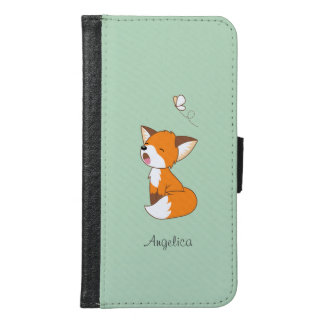 Cute Sleepy Little Fox Samsung Galaxy S6 Wallet Case