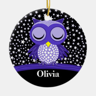 cute sleepy owl christmas ornament