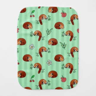 Cute Sleepy Red Panda Pattern Burp Cloth