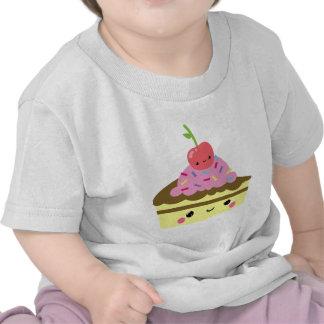 Cute Slice of Kawaii Ice Cream Cake T-shirts