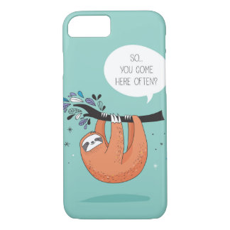 Cute Sloth Blue iPhone 8/7 Case