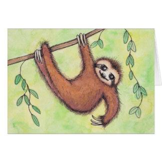 Cute Sloth Card