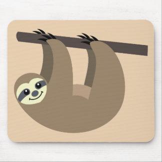 Cute Sloth Cartoon Mouse Mat