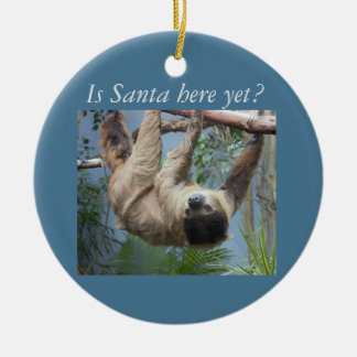 Cute Sloth Christmas Ornament