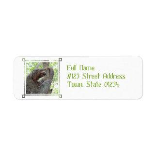 Cute Sloth Return Address Label