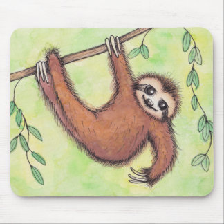 Cute Sloth Mouse Mat