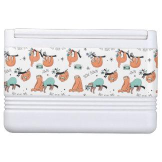 Cute Sloth Pattern Igloo Cooler