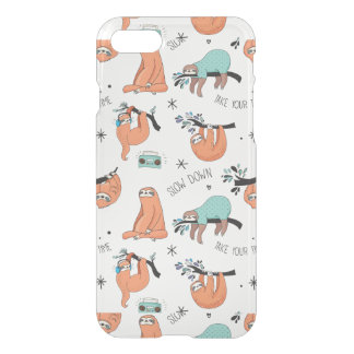 Cute Sloth Pattern iPhone 8/7 Case