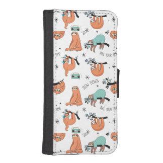 Cute Sloth Pattern iPhone SE/5/5s Wallet Case