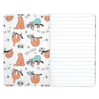 Cute Sloth Pattern Journal