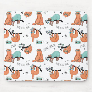 Cute Sloth Pattern Mouse Mat