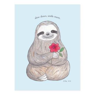 Cute Sloth Postcard Slow Life Advocate Sloth Card